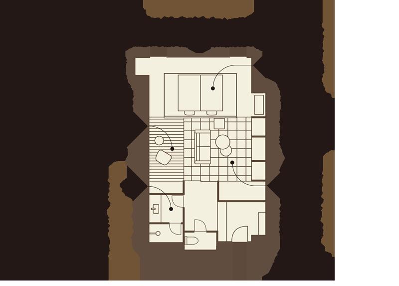 ムーンロードデラックス 「堀川」(ほりかわ)平面