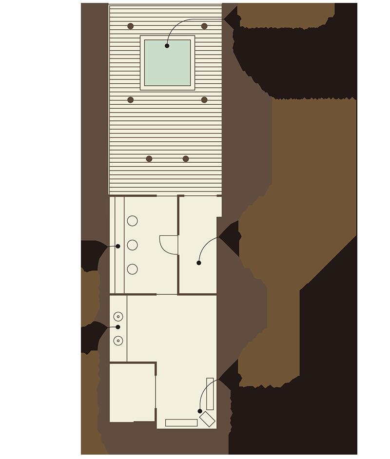 浮舟 平面図