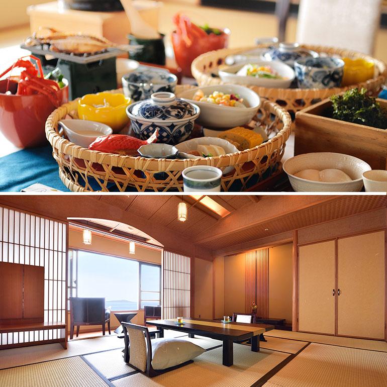 ご夕食もご朝食もお食事はお部屋でお楽しみください。