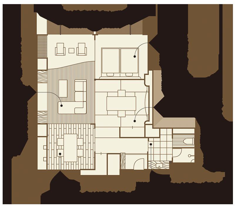 大室平面図