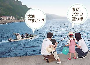 北川堤防で魚釣り